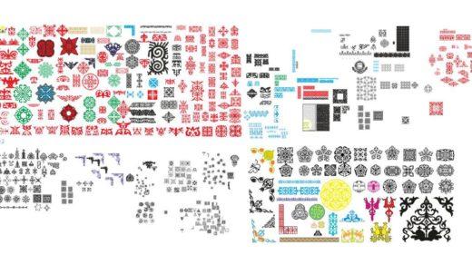 Огромная коллекция казахских орнаментов в векторе [CDR]