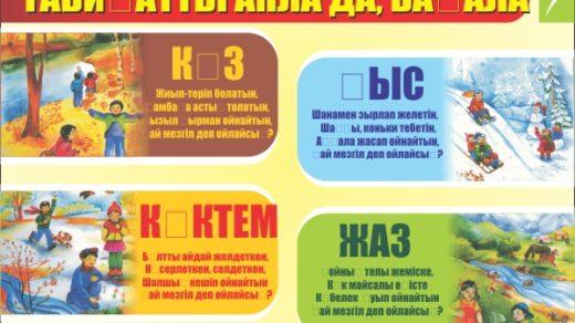 Стенд времена года в векторе для детского сада [CDR]