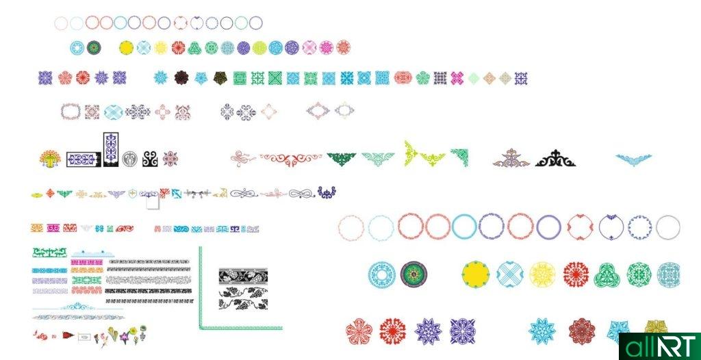 Орнаменты для создания логотипов, грамот, баннеров [CDR]