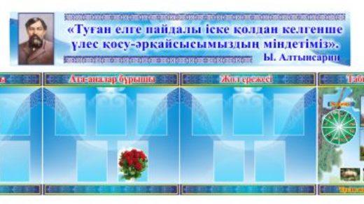 Стенд для школы Ыбырай Алтынсарин [CDR]