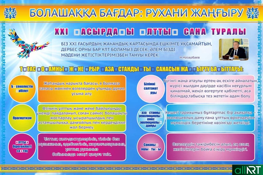 Рухани Жангырту в векторе стенд [CDR]