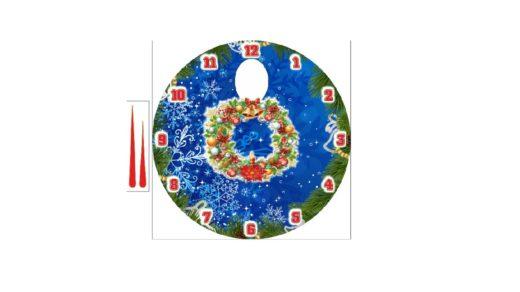 Макет часы на новый год в векторе [CDR]