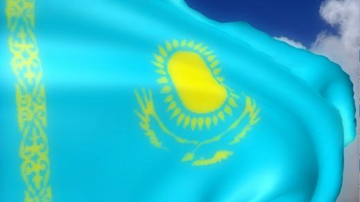 Футажи Казахстанского флага, герба, тенге РК [MOV]