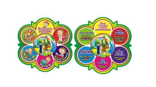 Стенд для детского сада, нач.школы, отрасль, индустрия, принципы, сала, қағидаттар [CDR]