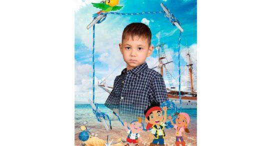 Детская рамка, шаблон для мальчика РК [PSD]