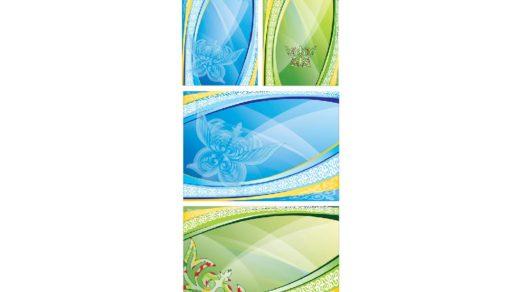 Пригласительные с казахскими орнаментами в векторе РК CDR