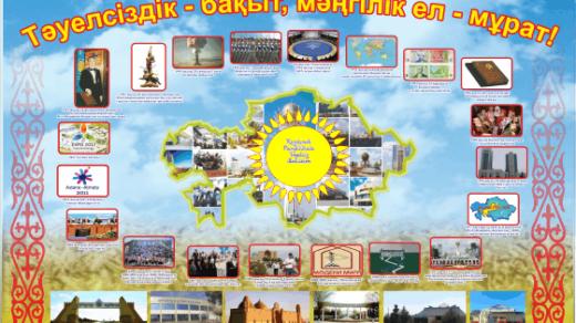 Баннер на 25 лет Независимости Казахстана в векторе [CDR]
