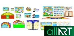 Стенд для детского сада кун шуак [CDR]