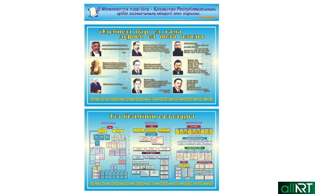 Стенды для кабинета казахского языка [CDR]