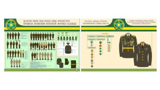 Стенд правила ношения военной формы РК [CDR]