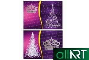 Красивый баннер на Новый год 2021 [CDR]
