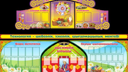 Стенд для кабинета Технологии женской группы РК Казахстан [CDR]