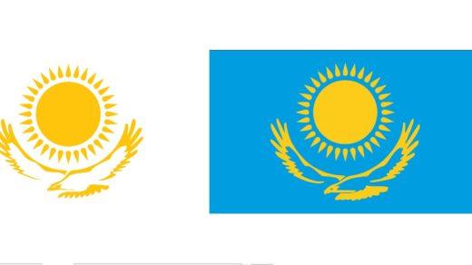 Герб и флаг в векторе РК Казахстан [CDR]