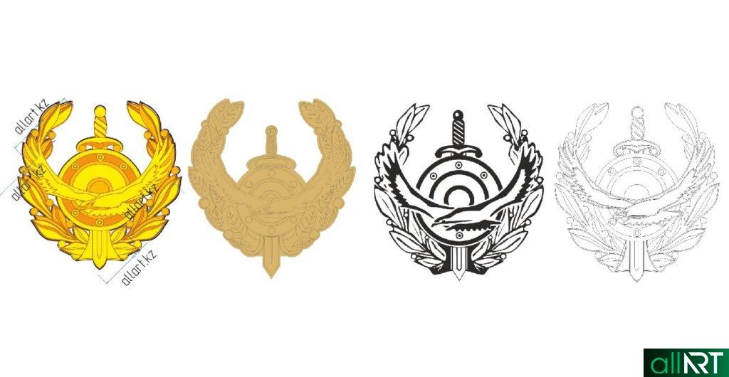 Логотип МВД, пресс служба МВД в векторе РК Казахстан [CDR]