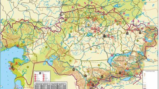 Карта Казахстана в векторе [CDR]