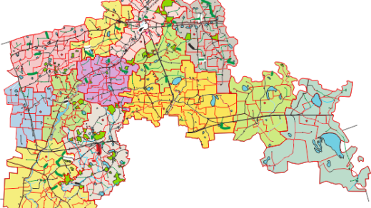 Карта СКО в векторе, Северо-казахстанская область, Петропавловск карта в векторе [CDR]