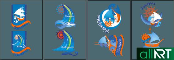 лого кокарал в векторе [CDR]
