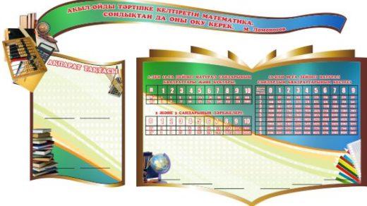 Стенд для кабинета математики на казахском языке РК [CDR]