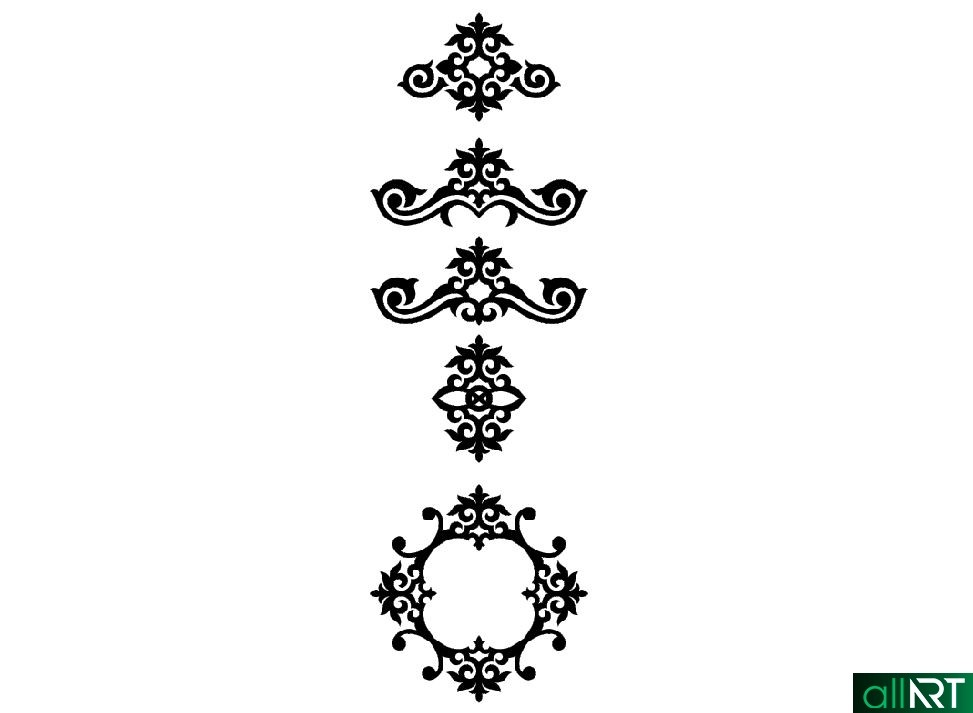 Современные казахские орнаменты в векторе [CDR]