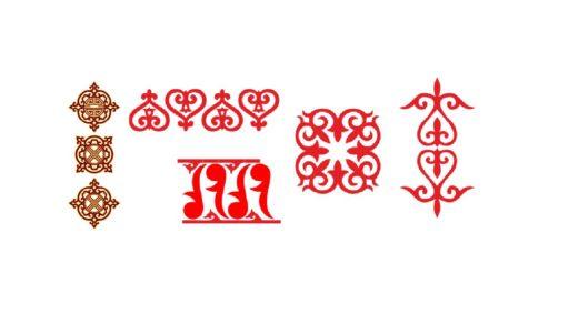 Новые казахские орнаменты, орнаменты для оформления [CDR]