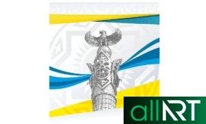 Стенды Казахстана, животные, живопись, ремесло, украшения [CDR]