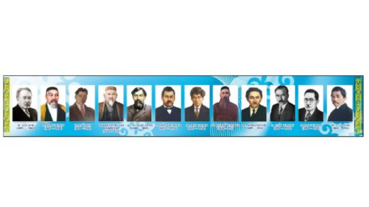 Стенд с портретами, личности Казахстана для школ [JPG,CDR]