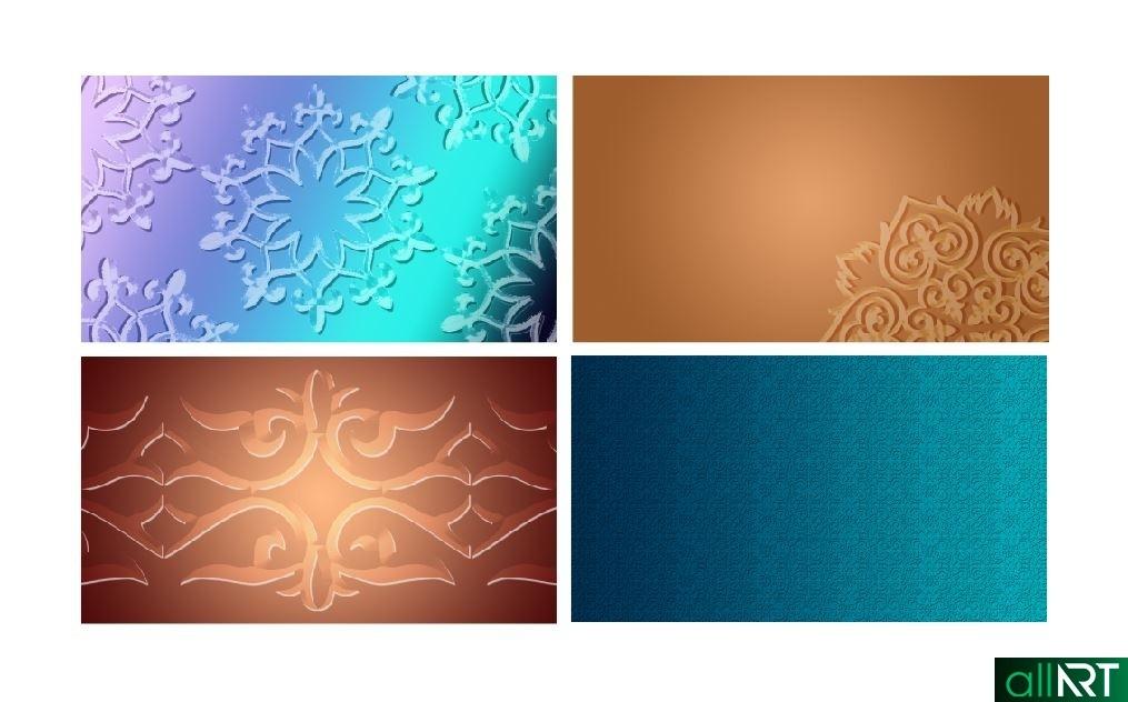 Фон для презентации с казахскими орнаментами, с днем рождения на казахском РК [PSD]