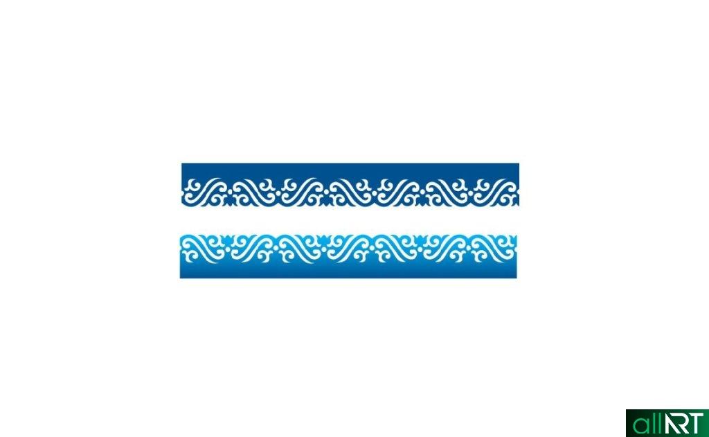 Казахский орнамент в векторе [CDR]