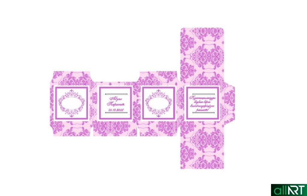 Бонборьерка на свадьбу в векторе [CDR]