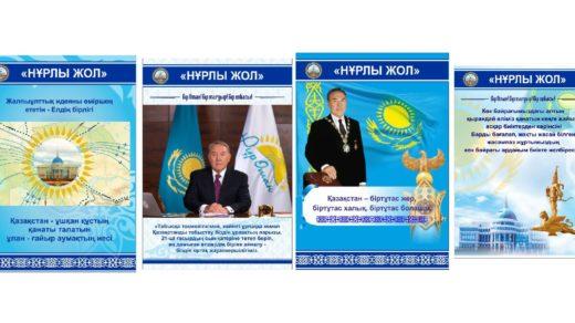 Баннера Нурлы жол Казахстан РК в векторе [CDR]