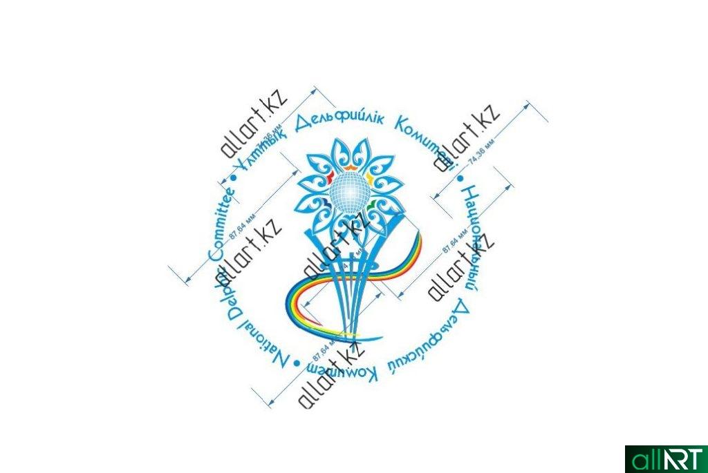 Логотип Дельфийский Комитет Казахстана в векторе [CDR]
