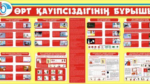 Стенд пожарная безопасность РК Казахстан в векторе [CDR]