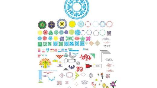 Казахские орнаменты, монеты, цифры на юбилей в векторе [CDR]