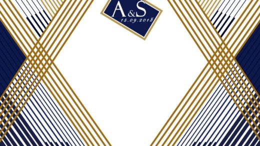 Свадебный баннер с линиями [PSD]