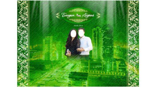 Фотозона для свадьбы в зеленом цвете [CDR]