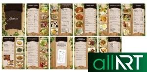 Флаер меню для кафе, ресторана [CDR]