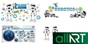 Стенд робототехника в векторе [CDR]