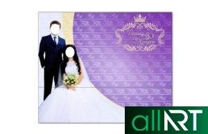 Баннер на Кыз узату с цветами и мраморный фон [CDR]