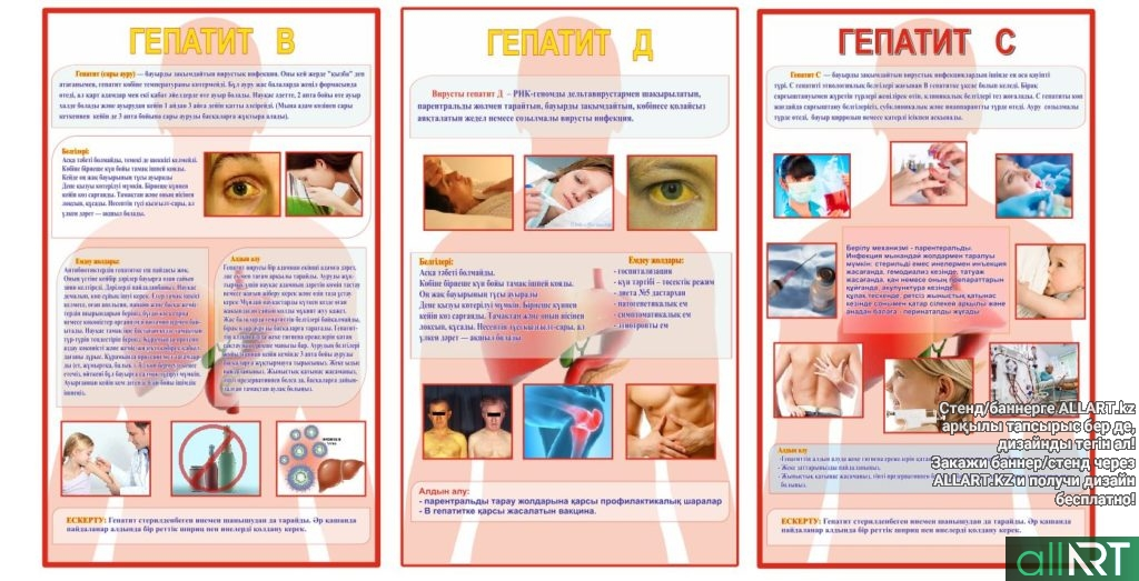 Плакат / Стенд Гепатит А, Гепатит В, Гепатит С [CDR]