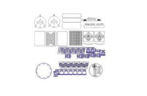 Детские рамки для лазерной резки, чпу [CDR]