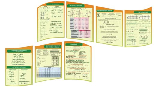 Стенд формулы на казахском алгебра, математика [CDR]