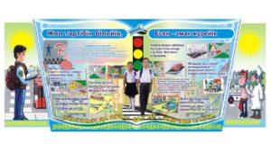 ПДД стенд для школы в векторе 3D [CDR]