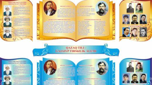 Стенд қазақ тілі, казахский язык латиница [CDR]