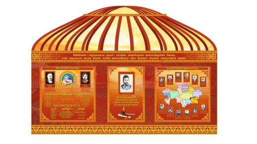 Стенд для кабинета истории в виде юрты [CDR]