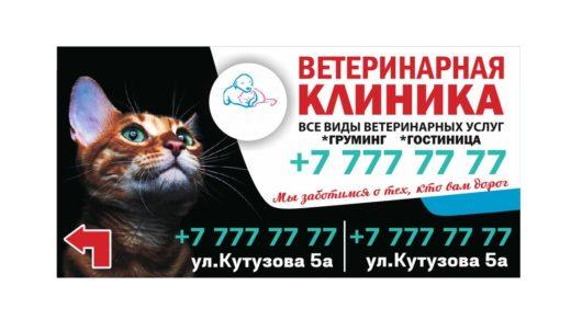 Баннер ветеринарная клиника 3x6m [CDR]