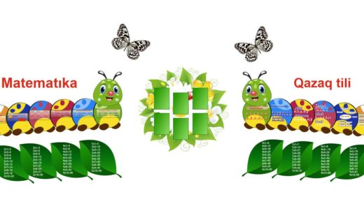 Стенд в виде гусеницы математика, казахский на латинице начальный класс [CDR]