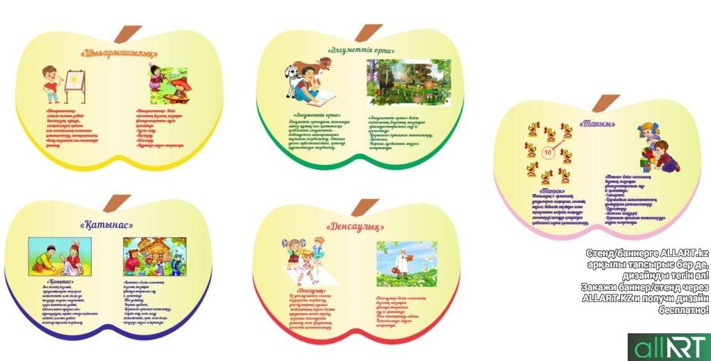 Стенды для детского сада в виде яблок [CDR]