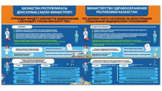 Стенд социальное медицинское страхование на каз и рус [CDR]