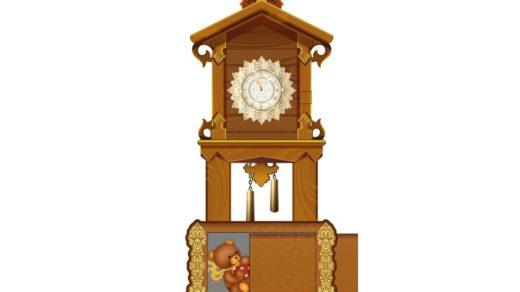Часы новогодние для детского сада [CDR]