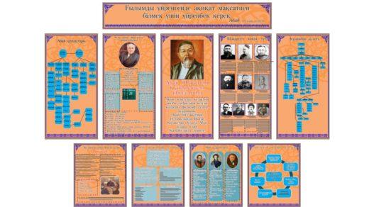 Стенд полная биография Абай Кунанбаев для школы [CDR]